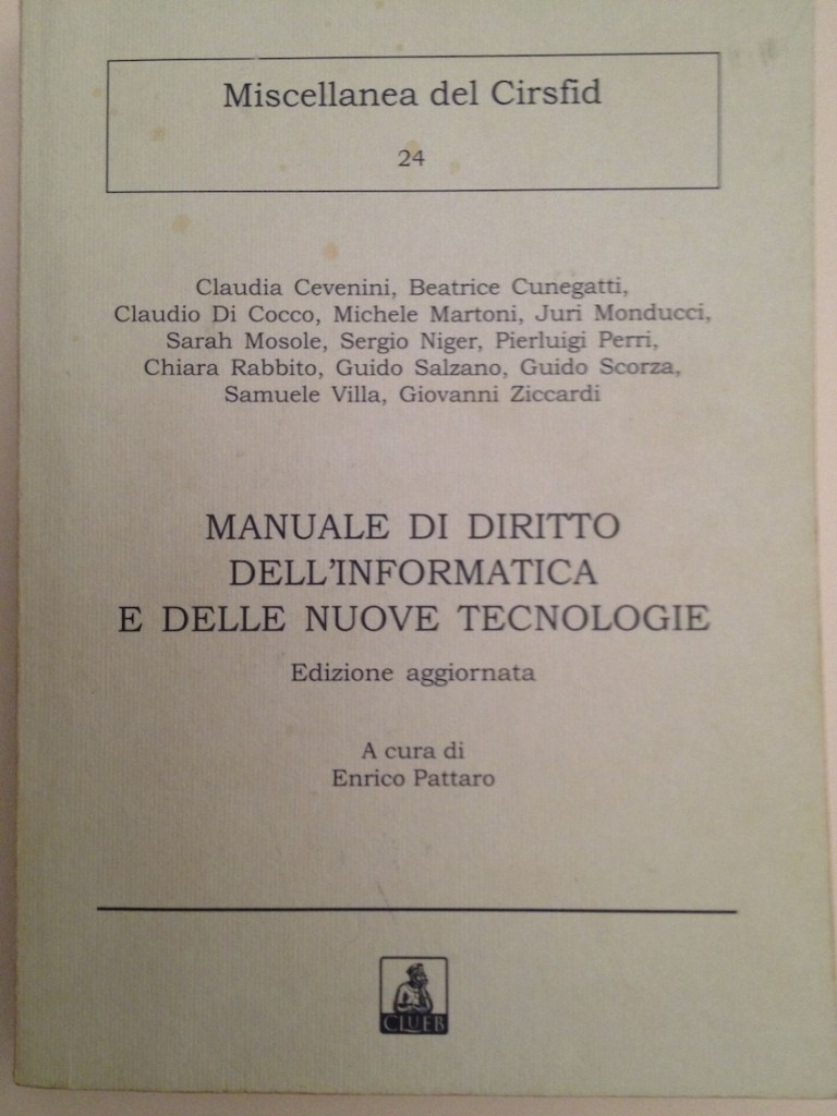 Book Cover: Il documento informatico amministrativo