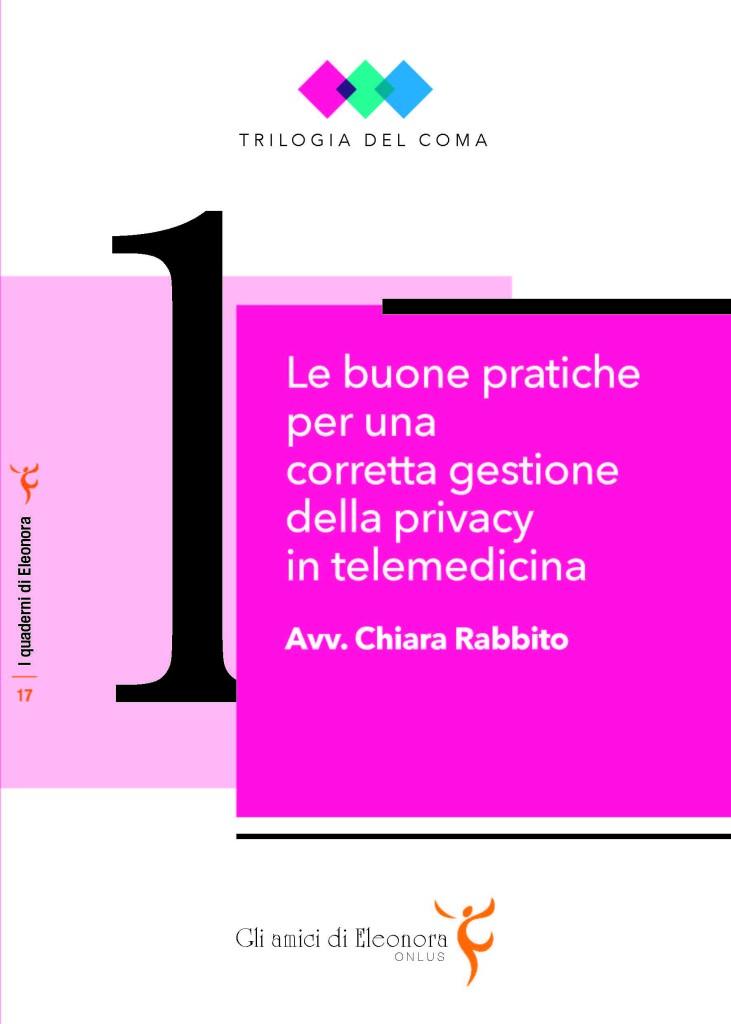 Book Cover: Le buone pratiche per una corretta gestione della privacy in telemedicina - ed. 2015 - monografia
